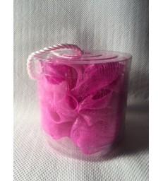 fleur de massage douche & bain rose +