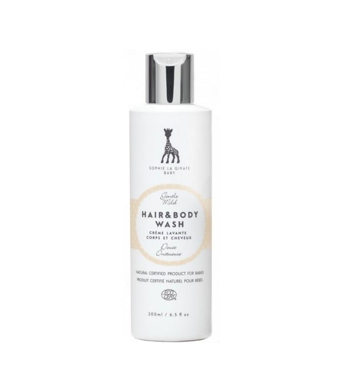 Gel lavant corps et cheveux bébé SOPHIE LA GIRAF certifié naturel - 200ml