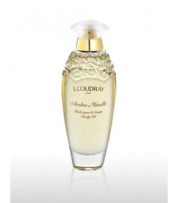 Huile parfumée pour le corps Ambre et Vanille Coudray