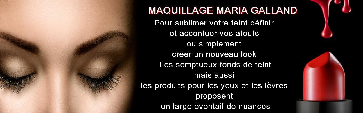 Maquillage Maria Galland